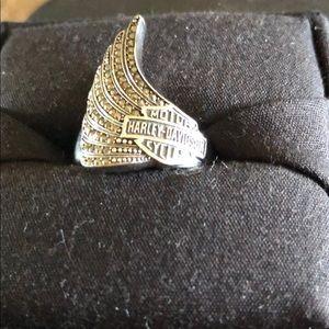 Harley Davidson Maracasite Wing Ring